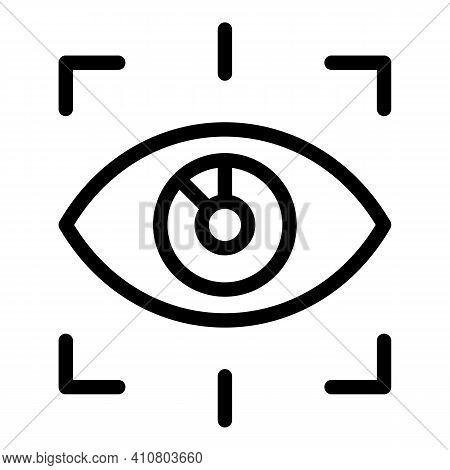 Eye Unlock Icon. Outline Eye Unlock Vector Icon For Web Design Isolated On White Background