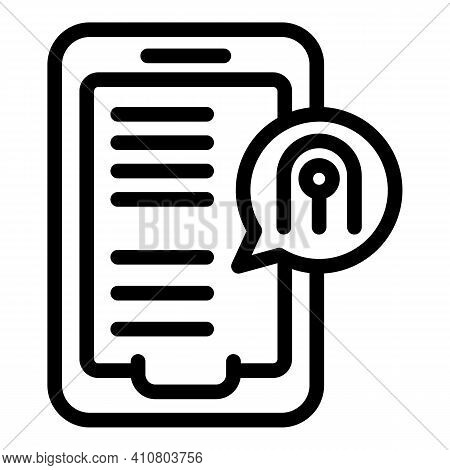 Tablet Privacy Icon. Outline Tablet Privacy Vector Icon For Web Design Isolated On White Background