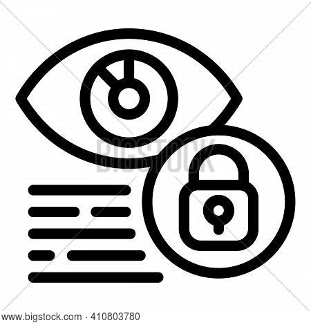 System Eye Privacy Icon. Outline System Eye Privacy Vector Icon For Web Design Isolated On White Bac