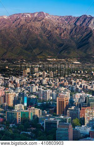 Providencia, Santiago De Chile, Metropolitan Region, South America - October 20, 2014: The Andes Mou