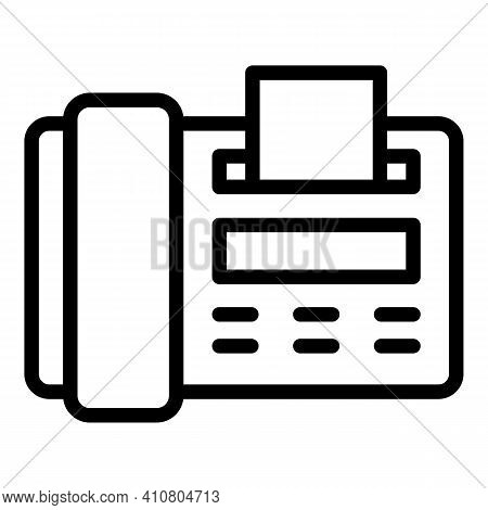 Fax Assistance Icon. Outline Fax Assistance Vector Icon For Web Design Isolated On White Background