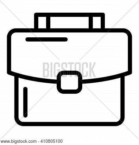 Suitcase Icon. Outline Suitcase Vector Icon For Web Design Isolated On White Background
