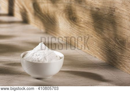 Baking Soda In The Ceramic Bowl - Text Space