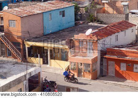 Santo Domingo, Dominican Republic - January 11, 2020: Poor District Of Santo Domingo On A Daytime, L