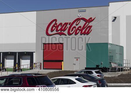 Whitestown - Circa March 2021: Coca-cola Plant. Coca-cola Manufactures Coke, Diet Coke, Sprite, Dasa