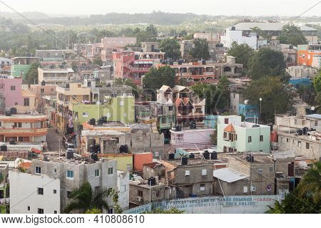Santo Domingo, Dominican Republic - January 11, 2020: Poor District Of Santo Domingo On A Daytime, A