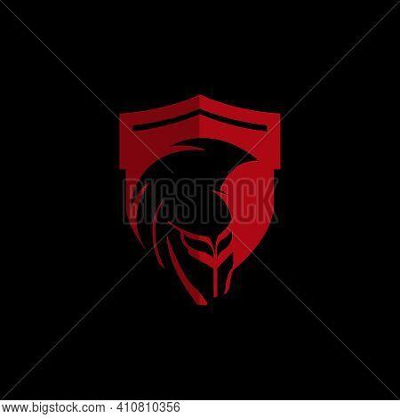 Shield And Helmet Of The Spartan Warrior Symbol, Emblem.eps 10