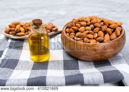 Apricot Oil From Apricot Kernels In Bottle, Apricot Seeds