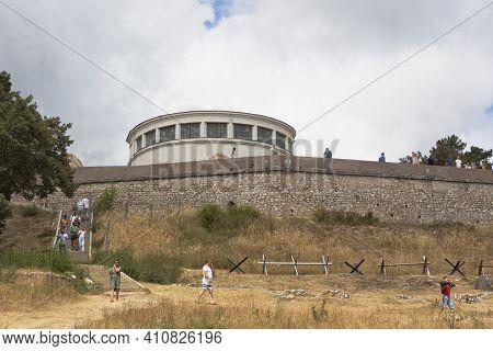 Sevastopol, Crimea, Russia - July 28, 2020: Building Of The Diorama