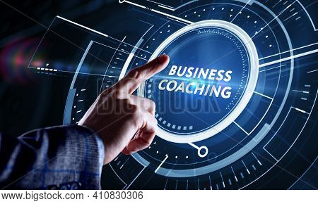 Business, Technology, Internet And Network Concept. Coaching Mentoring Education Business Training D