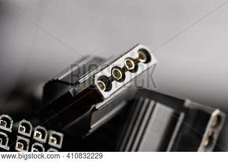 Computer Digital Input Output Port. Button For Installing The Bios. Processor Of Computer, Cpu