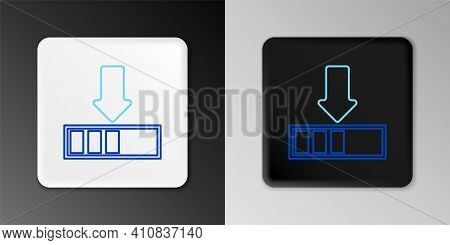 Line Loading Icon Isolated On Grey Background. Download In Progress. Progress Bar Icon. Colorful Out