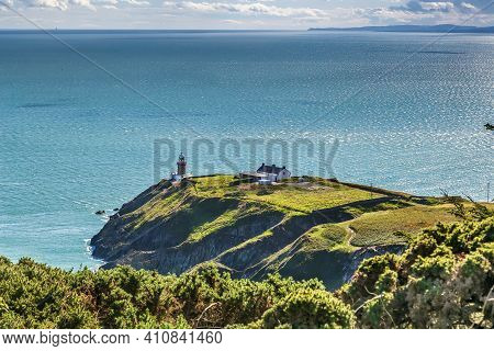 Baily Lighthouse Is A Lighthouse On The Southeastern Part Of Howth Head In County Dublin, Ireland