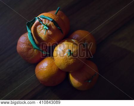 Photograph Of A Group Of Ripe Italian Clementines