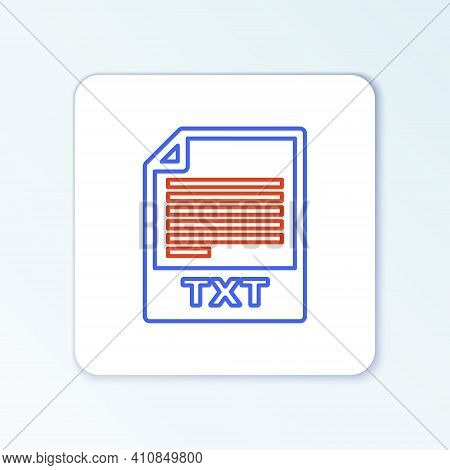 Line Txt File Document. Download Txt Button Icon Isolated On White Background. Text File Extension S