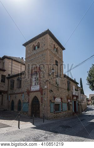 Toledo, Spain, July 2020 - An Ancient Building In The City Of Toledo, Spain