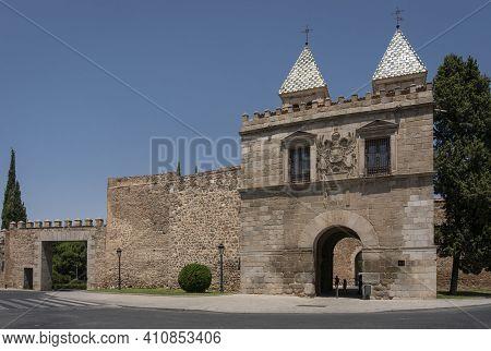 Toledo, Spain, July 2020 - Ancient Gateway In The City Of Toledo, Spain