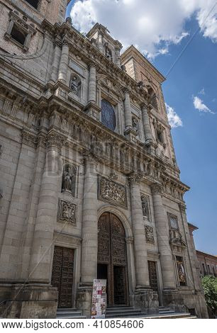 Toledo, Spain, July 2020 - Church Of Saint Ildefonso In The City Of Toledo, Spain