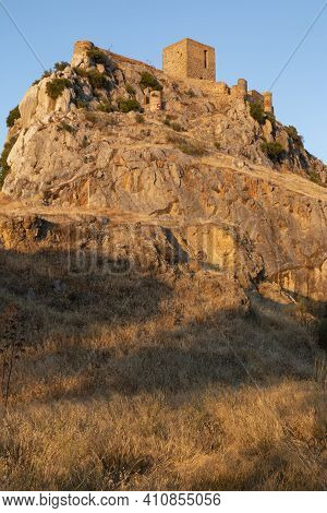 Ancient Castle On A Mountain In A Town In Southern Andalusia Spain