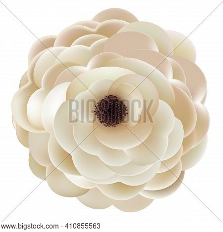 Realistic Abstract Flower Design Element. Vector Illustration