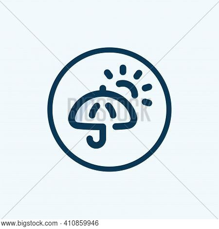 Sun Umbrella Icon Isolated On White Background From Brazilia Collection. Sun Umbrella Icon Trendy An