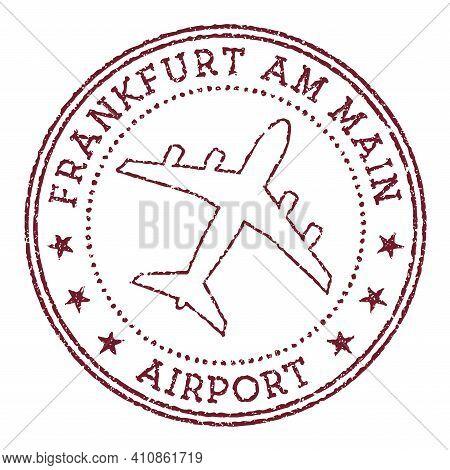 Frankfurt Am Main Airport Stamp. Airport Of Frankfurt-am-main Round Logo. Vector Illustration.