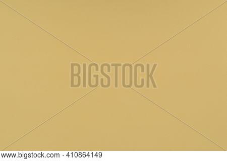 Yellow Paper Background. Mellow Yellow Colour Paper Texture. Matte Monochrome Surface.