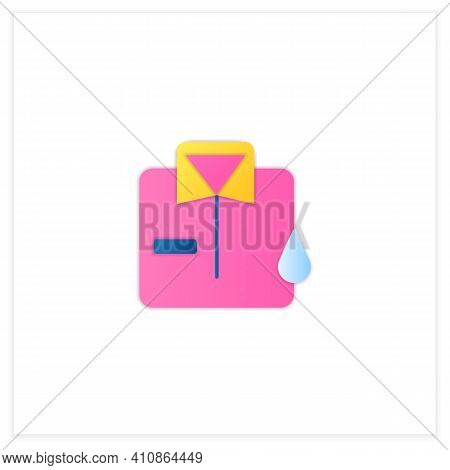 Dry Cleaning Flat Icon. Laundry Service. Ironing. Washer. Using Chemical Solvent With Water. Cleanin