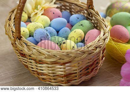 Easter Background, Easter 2021. Easter Eggs. Happy Easter Card. Multi-colored Easter Eggs. Easter. E