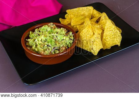 Tortilla Chips And Home Made Guacamole