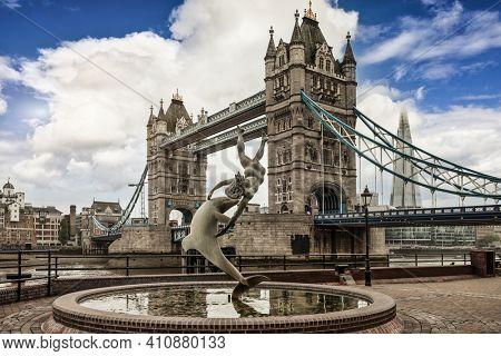 Tower bridge and famous landmarks of London