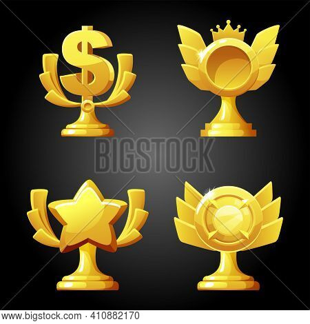 Gold Luxury Figurines Awards For The Game.