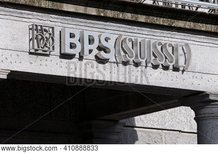Bellinzona, Ticino, Switzerland - 25th February 2021 : Banca Popolare Di Sondrio Or Bps Suisse Bank