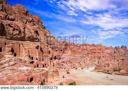 Petra, Jordan - Altar Of  Sacrifice And Nabatean Theatre Ruins - The Capital Of The Nabatean Kingdom