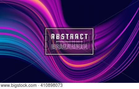 Dark Purple Abstract Geometrical Template, Purple Wave Color Flow Background Vector