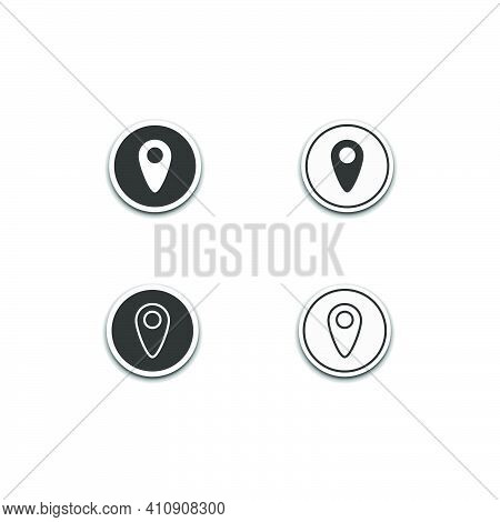 Position Location Icon Isolated On White Background, Web Template Element, Mobile App Material, Ui,