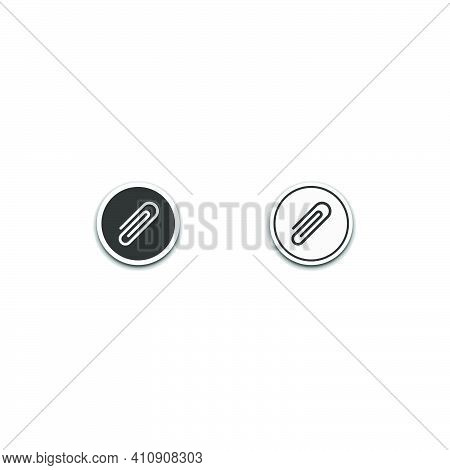 File Attachment Icon Isolated On White Background, Web Template Element, Mobile App Material, Ui, Ux