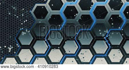 Hexagon Nest Glow Light Up Hexagon Frame Glitter Bokeh Effect Geometric Abstract Bokeh Hexagonal Ste