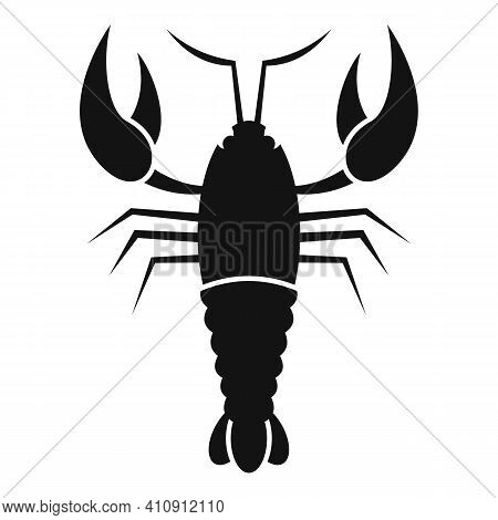 Lobster Icon. Simple Illustration Of Lobster Vector Icon For Web Design Isolated On White Background