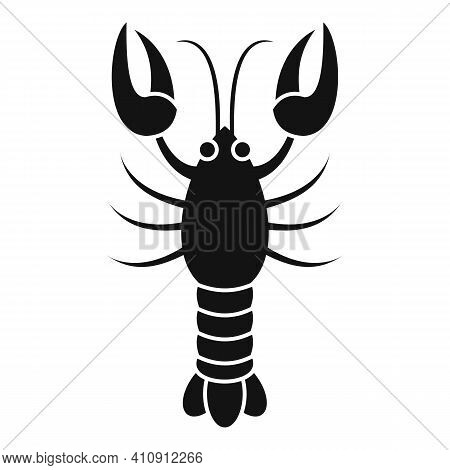 Delicious Lobster Icon. Simple Illustration Of Delicious Lobster Vector Icon For Web Design Isolated