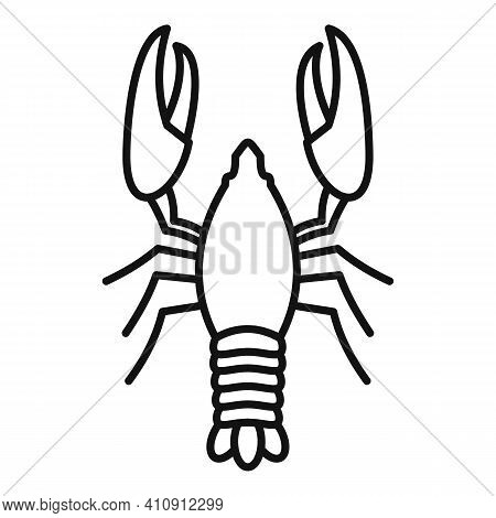 Lobster Delicacy Icon. Outline Lobster Delicacy Vector Icon For Web Design Isolated On White Backgro