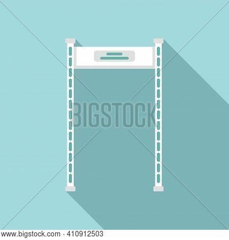 Gate Metal Detector Icon. Flat Illustration Of Gate Metal Detector Vector Icon For Web Design