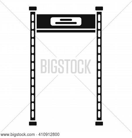 Gate Metal Detector Icon. Simple Illustration Of Gate Metal Detector Vector Icon For Web Design Isol