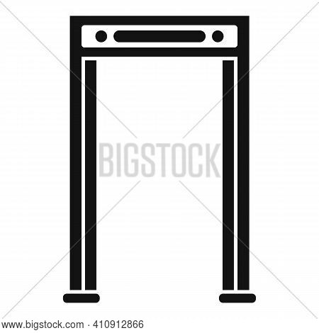 Airport Gate Metal Detector Icon. Simple Illustration Of Airport Gate Metal Detector Vector Icon For