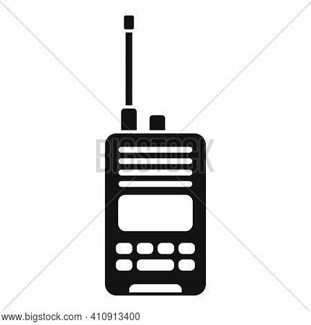 Radio Walkie Talkie Icon. Simple Illustration Of Radio Walkie Talkie Vector Icon For Web Design Isol