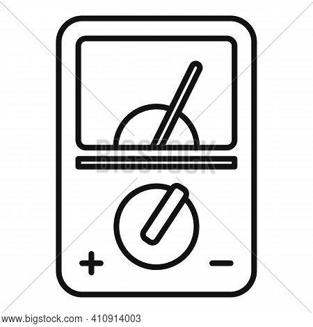 Radio Multimeter Icon. Outline Radio Multimeter Vector Icon For Web Design Isolated On White Backgro