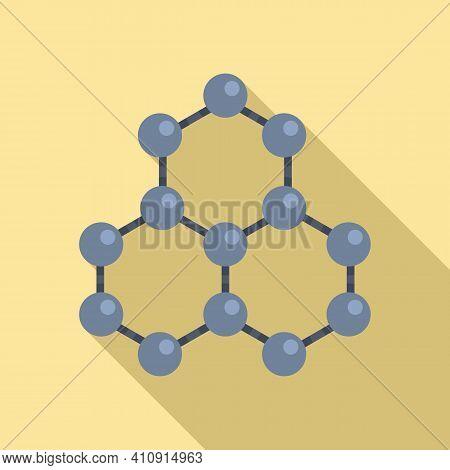 Nanotechnology Molecule Structure Icon. Flat Illustration Of Nanotechnology Molecule Structure Vecto