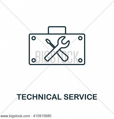 Technical Service Vector Icon Symbol. Creative Sign From Seo And Development Icons Collection. Fille