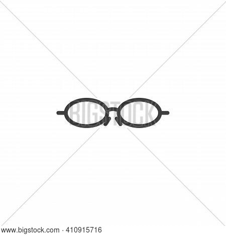 Sunglasses Frame Line Icon. Eyeglasses Linear Style Sign For Mobile Concept And Web Design. Fashion