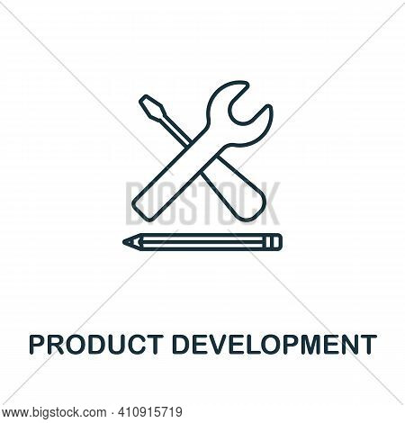 Product Development Vector Icon Symbol. Creative Sign From Seo And Development Icons Collection. Fil